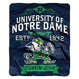 NCAA Notre Dame Fighting Irish Label Raschel Throw Blanket, 50' x 60', Blue