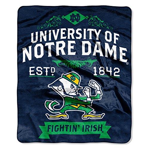 NCAA Notre Dame Fighting Irish Label Raschel Throw Blanket, 50