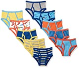 Amazon Brand - Spotted Zebra Boys' Toddler 10-Pack Brief Underwear, Sea Days Of