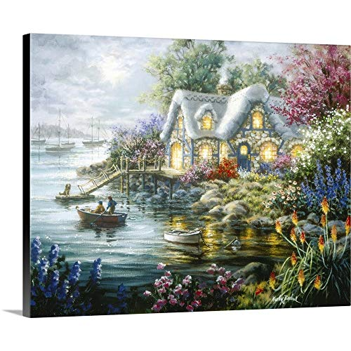 Cottage Cove Canvas Wall Art Print, 30