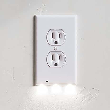 1 pack snappower guidelight outlet wall plate with led night 1 pack snappower guidelight outlet wall plate with led night lights no batteries or mozeypictures Image collections