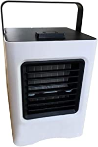 YJYdadaS USB Charging Air Conditioner Fan Mini Cooler Portable Small Air Conditioner (Black)
