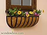 XL English Garden Hay Rack Window Basket w/ Coco Liner – 48 Inch Review