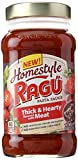 thick pasta sauce - Ragu Homestyle Thick And Hearty Meat Pasta Sauce, 23 oz