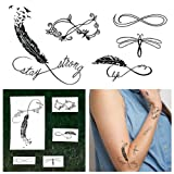 Tattify Infinity Sign Temporary Tattoos - From Dust (Set of 10)