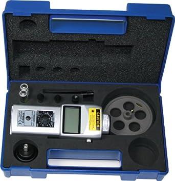"Shimpo DT-205LR-S12 Handheld Tachometer with 12"" Wheel, LCD Display, 6 - 99999rpm Range"