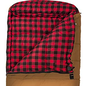 TETON Sports 1025R Deer Hunter Sleeping Bag; Warm and Comfortable Sleeping Bag Great for Fishing, Hunting, and Camping; Great for When it's Cold Outdoors; Brown, Right Zip