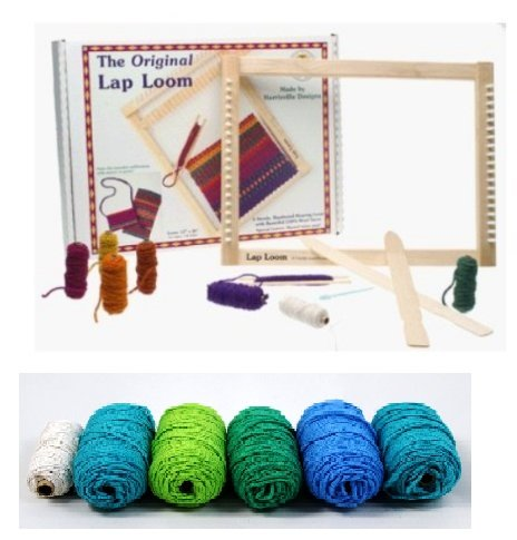 Harrisville Designs Lap Loom A with Additional Yarn Refill Pack (Ocean -