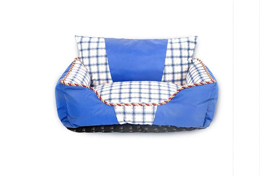 bluee Gperw Dog Comfort Bed Ultimate Dog Bed & Lounge,Water resistant, Easy Clean Non Slip Cushion Pad (color   bluee)