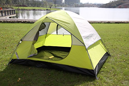 STAR HOME Backpacking Tent 2,4,6 Person Waterproof Family Hiking Tent 4 Season Tent For Camping Color Green With Carry Bag