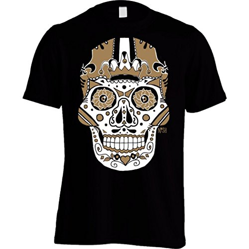 America's Finest Apparel New Orleans Sugar Skull - Men's (Large) Black -