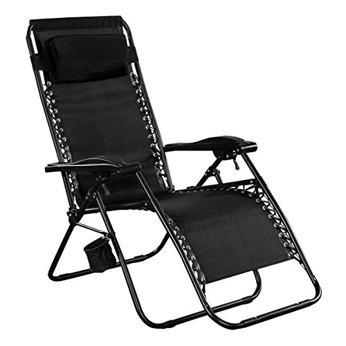 Giantex Folding Lounge Chairs Recliner Zero Gravity Outdoor Beach Patio Garden (Black)  sc 1 st  Amazon.com & Reclining Dining Chair: Amazon.com islam-shia.org