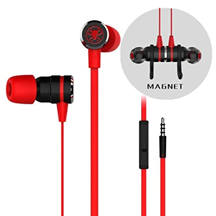 0a98fc6de2b Amazon.com: In-ear Hanging Headphones with 6× Earplugs Ikevan Mobile Phone  Line Control Headset Game Earplugs Computer Anchor Headset (Red): Musical  ...