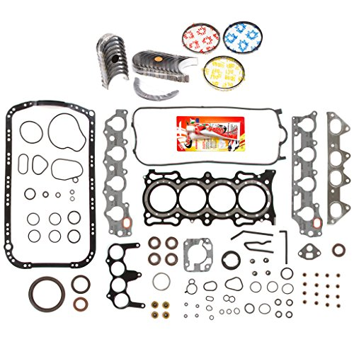 Full Sohc Gasket Kit (Domestic Gaskets Engine Rering Kit FSBRR4010EVE\0\0\0 Acura Honda 2.3 SOHC F23A1 F23A4 F23A5 F23A7 Full Gasket Set, Standard Size Main Rod Bearings, Standard Size Piston Rings)