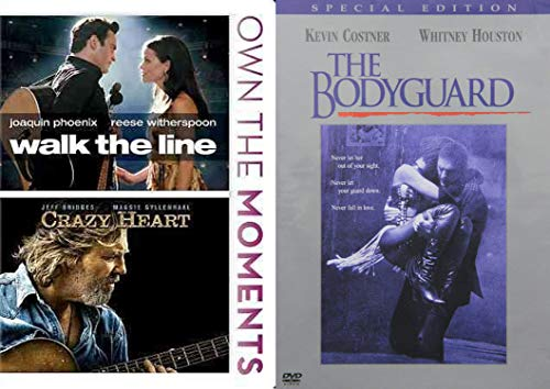 Movies About Singing - Walk the Line, Crazy Heart & The Bodyguard 3-DVD Bundle