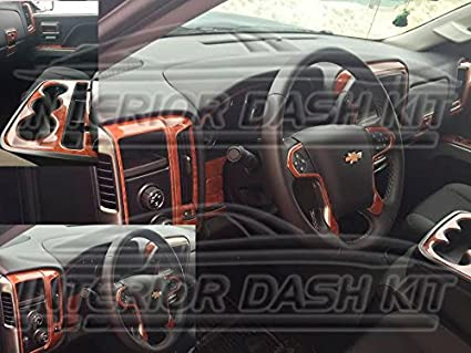 Amazon Com Chevy Chevrolet Silverado Interior Burl Wood Dash Trim