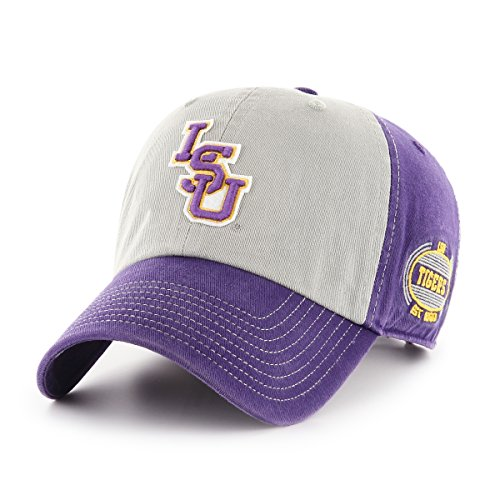NCAA LSU Tigers Adult NCAA Tuscon Ots Challenger Adjustable Hat, One Size, Purple