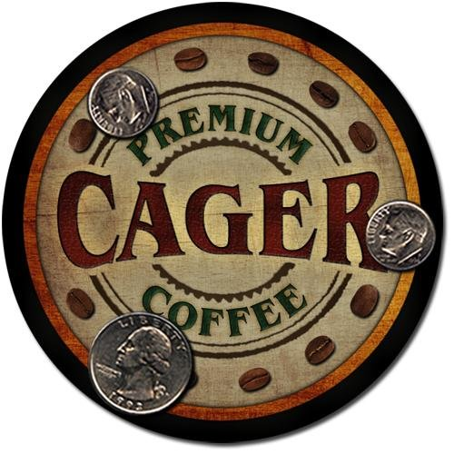 Cager Family Name Coffee Drink Coasters - 4 Pack