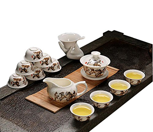 Ufengkebeautiful Ceramic Porcelain Kungfu Tea Cup Set With