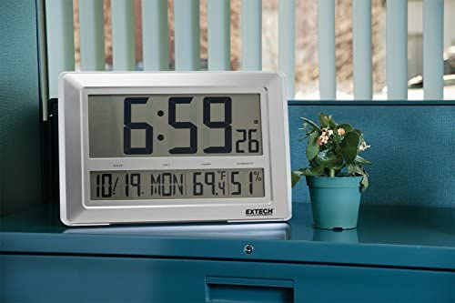 Image result for extech CTH10A Clock, Radio Controlled, Temp/Humidity