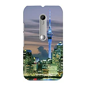HomeSoGood Auckland Sky Tower Multicolor 3D Mobile Case For Moto G 3rd Gen (Back Cover)