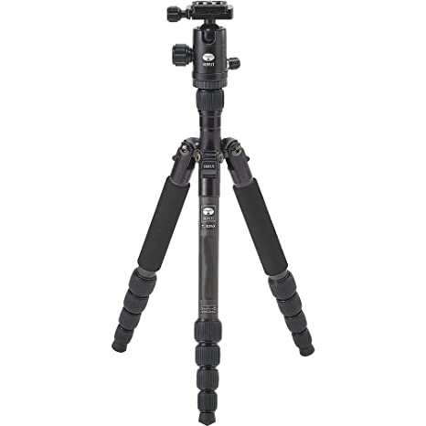 "Sirui T-025X 52"" Carbon Fiber Tripod with C-10X Ball Head & Case (Black) Tabletop & Travel Tripods at amazon"
