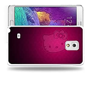 Case88 Designs Hello Kitty Collection 0631 Protective Snap-on Hard Back Case Cover for Samsung Galaxy Note 4