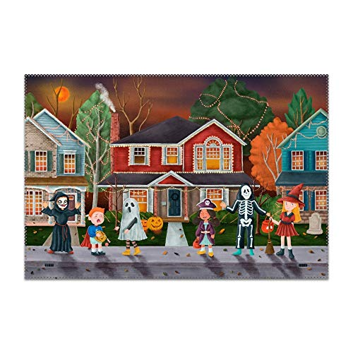 Kefanlk Non-Slip Insulation Trick Or Treat Halloween Placemat Washable Table Mats Easy to -