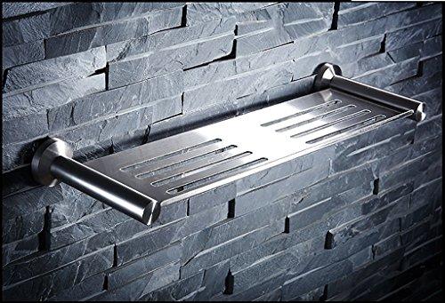 DACHUI Estantería de baño Toalla Pulido de Acero Inoxidable 304 de una Sola Capa de Rack Ducha Toallas baño estantes...