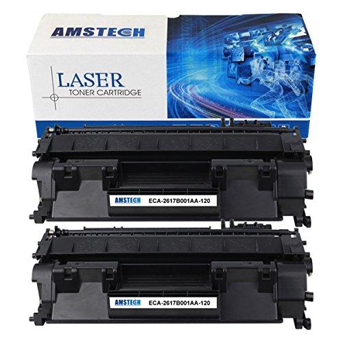 2Pack Amstech 5,000 Pages Compatible Black Toner Cartridge Replaces Canon 120 Canon Cartridge 120 2617B001AA CRG-120 For Printers Canon imageClass D1100 D1120 D1150 D1170 D1180 D1320 Canon D1350 D1370