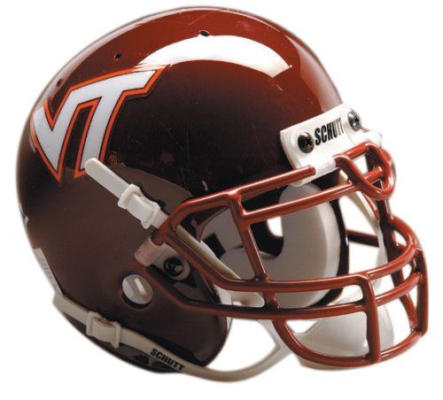 NCAA Virginia Tech Collectible Mini Football Helmet - Tech Hokies Authentic Football Helmet