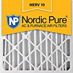 Nordic Pure 24x24x4 MERV 10 Pleated AC Furnace Air Filter, Box of 1