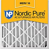 Nordic Pure 20x20x4 (3-5/8 Actual Depth) MERV 10 Pleated AC Furnace Air Filter, Box of 1