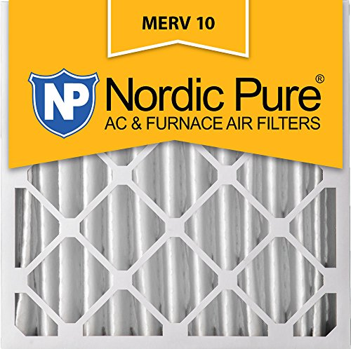 Nordic Pure 20x20x4 (3-5/8 Actual Depth) MERV 10 Pleated AC Furnace Air Filter, Box of 1 (20x20 Shop)