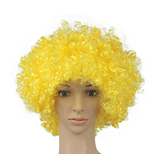 Short Curly Capless Synthetic Hair Wig 10 Inches Fan Cosplay Wigs (1970's Mens Shorts)