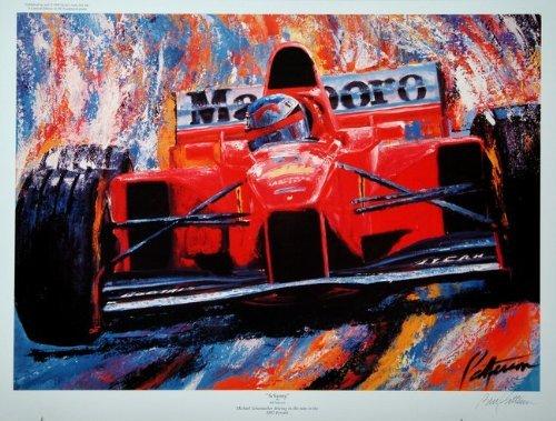Schumy - Michael Schumacher Formula One Press Proof Racing Print