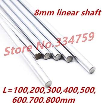 Ochoos - Eje lineal de 8 mm 100 200 mm 300 mm 400 mm 500 mm 600 ...