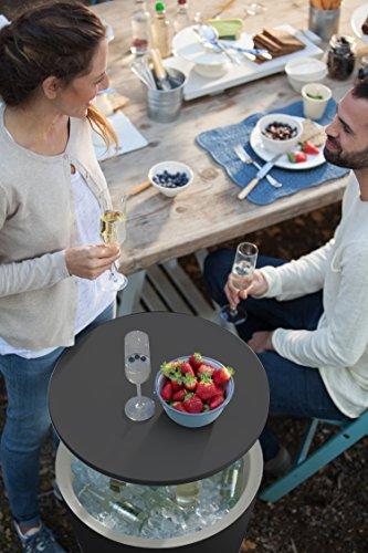 Keter 7.5-Gal Bar Modern Legs Patio Cooler Table, Grey