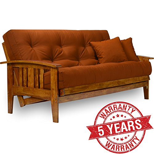 Wood Arm Futon (Westfield Wood Futon Frame - Full Size)