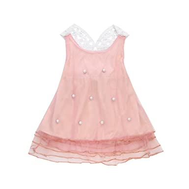 5fd3c516c Turkey Girl Dress 1-5 Years Old, Toddler Baby Girls Princess Dress Pearl  Party Pageant Lace Tulle Tutu Dresses Outfits: Amazon.co.uk: Clothing