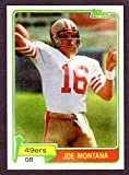 Joe Montana 1981 Topps Reprint Rookie Card with Original Back (From 2012 Topps Rookie Reprints) (49ers)