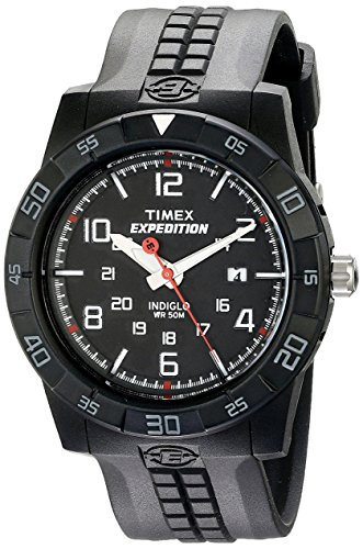 amazon com timex men s t49831 expedition rugged analog black amazon com timex men s t49831 expedition rugged analog black resin strap watch timex watches