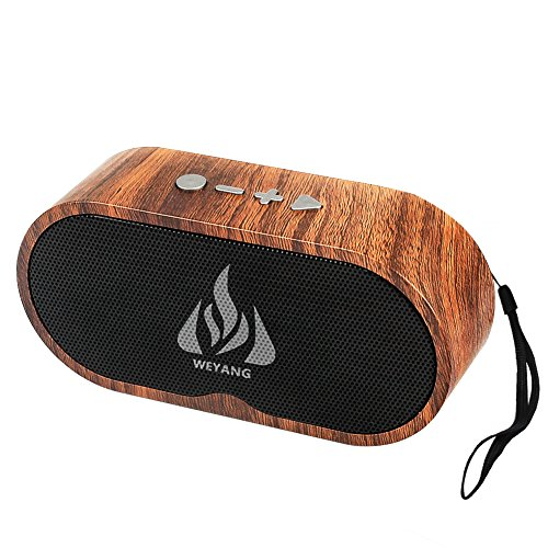 Portable Bluetooth Wireless Speaker,5-Watts Outdoor Speakers,6-Hour Playtime Phone Speaker for iPhone iPad Android Phones Computer etc.(Wooden) (Best Low Price Android Phone)