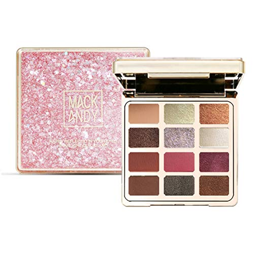 Makeup Set,180 Colors Professional Eye Shadows Palette with 2 Face Powder, 2 Blusher and 6 Repair Powder-Make Up Kit (Pink) (Pink)