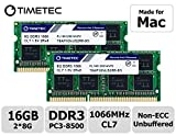Timetec Hynix IC 16GB KIT(2x8GB) Compatible for Apple DDR3 PC3-8500 1067MHz/1066MHz Upgrade for MacBook 13'' Mid 2010, MacBook Pro 13'' Mid 2010, iMac 27''Late 2009, Mac Mini Mid 2010(16GB KIT(2x8GB))