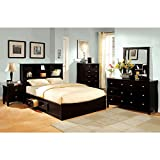Brooklyn Transitional Style Espresso Finish Eastern King Size 6-Piece Bedroom Set