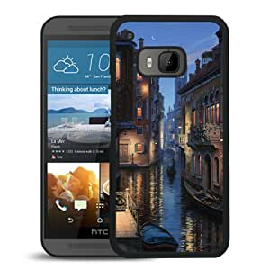 Fashionable Custom Designed Hard Shell Case For HTC ONE M9 With Venice Cityscapes Black Phone Case