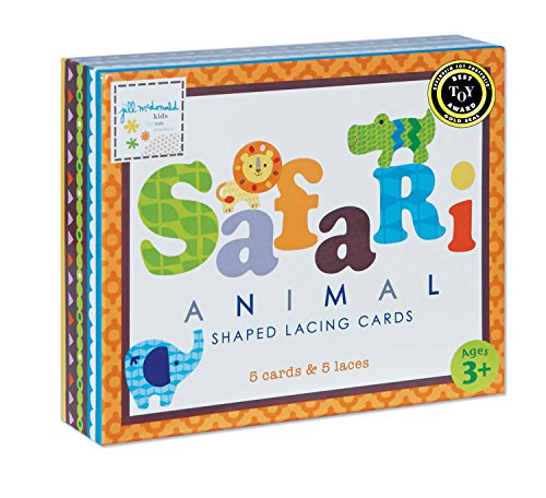 Gibby & Libby Safari Animals Tri-lingual Lacing Cards Set by C.R. Gibson
