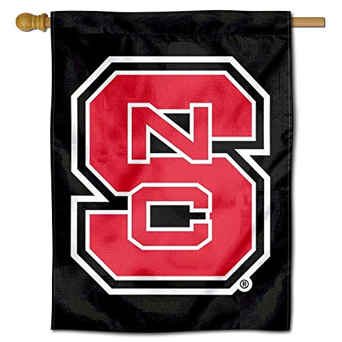 Nc State Wolfpack Merchandise - College Flags and Banners Co. NC State Wolfpack Black Double Sided House Flag