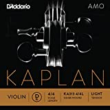 D\'Addario Kaplan Amo Violin D String, 4/4 Scale, Light Tension